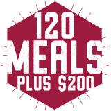 120 Meals Plus $200 Block Plan