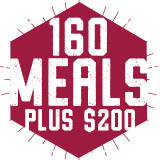 160 Meals Plus $200 Block Plan