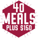 40 Meals Plus $150 Block Plan