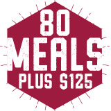 80 Meals Plus $125 Block Plan